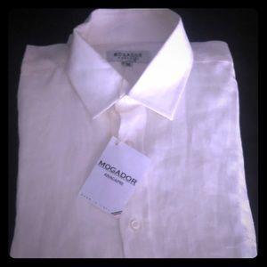 Men's linen button-down longsleeve shirt